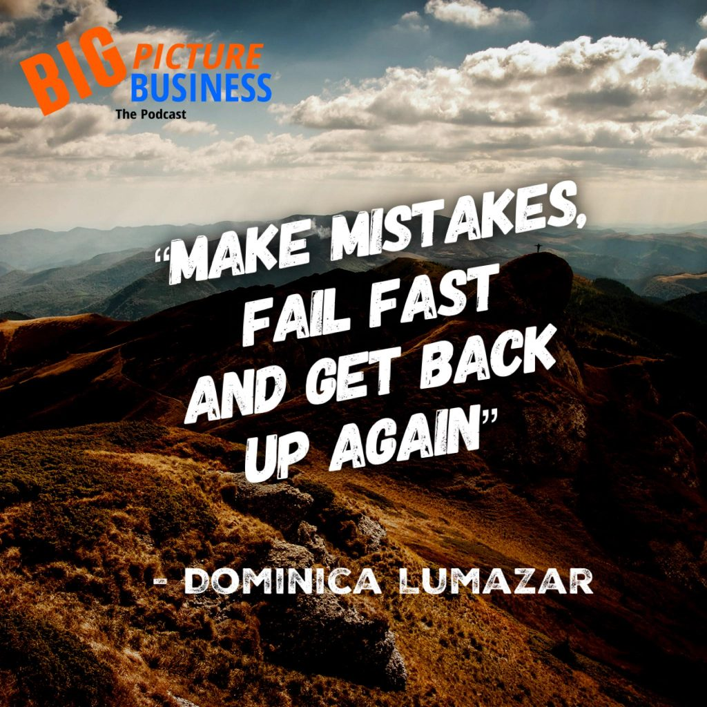 Make mistakes, fail fast, and get back up again