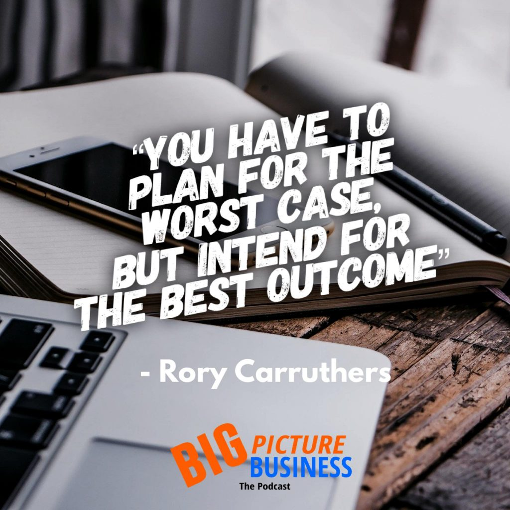 You have to plan for the worst case but intend for the best outcome
